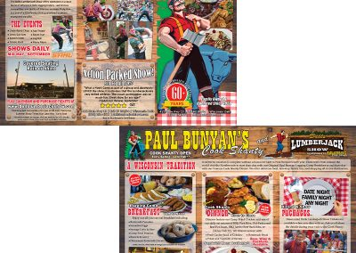 "Dells Lumberjack Show and Paul Bunyan""s Brochure Project"