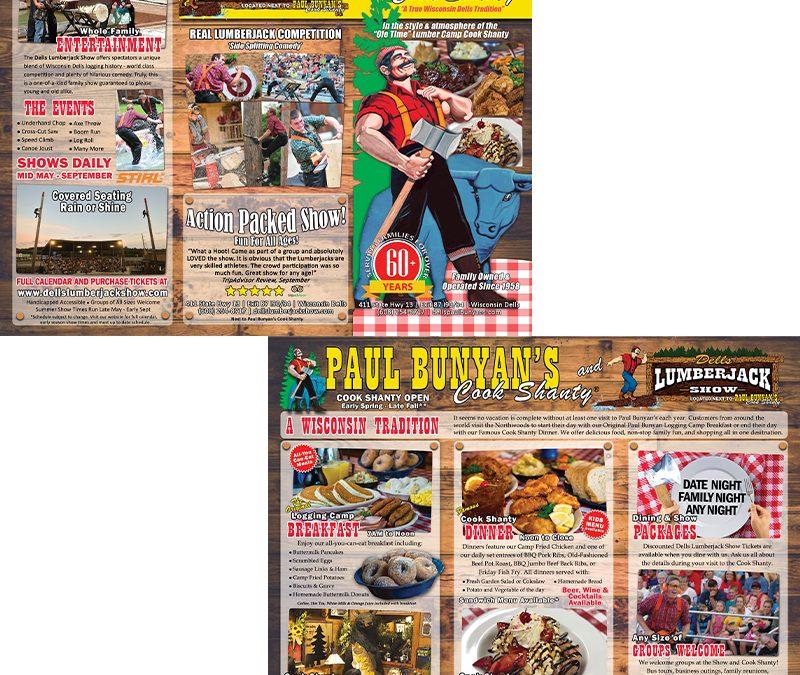 "Dells Lumberjack Show and Paul Bunyan""s Brochure Project"