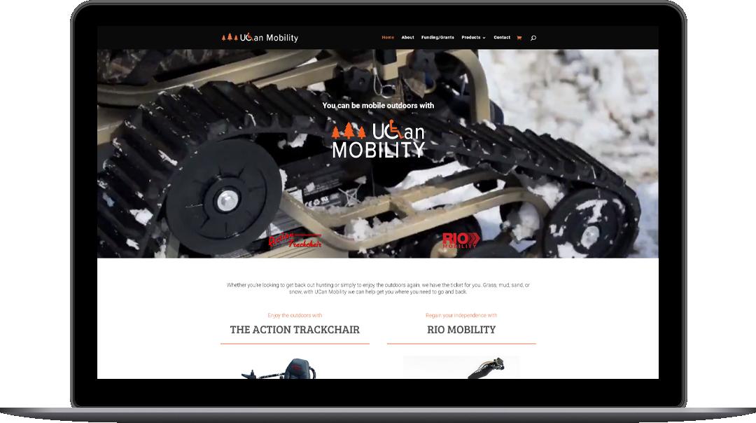 ucan mobility website design wisconsin